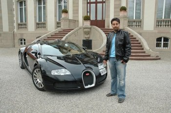 Alborz in a Lamborghini
