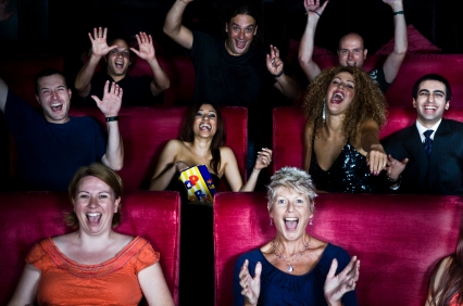 People at the movies