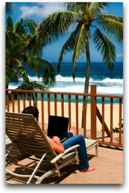 Working by the beach