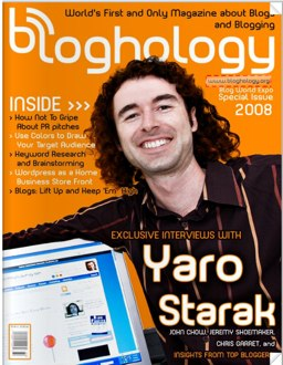 Bloghology Cover Featuring Yaro Starak
