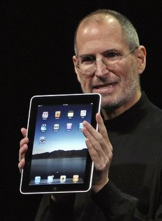 iPad with Steve Jobs - Click For More Imapges