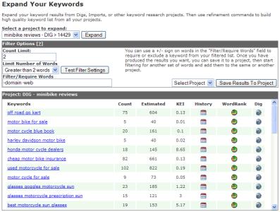 Keyword Filter Tool
