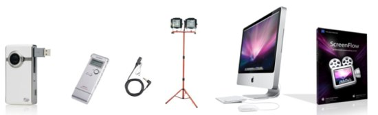 Video Equipment for Rapid Video Blogging