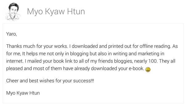 Myo Kyaw Htun Says...