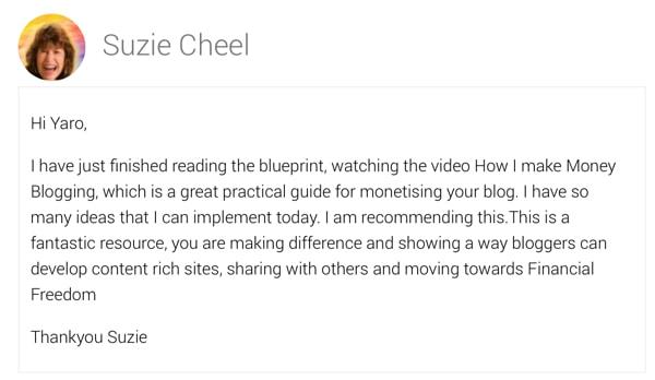 Suzie Cheel Says...