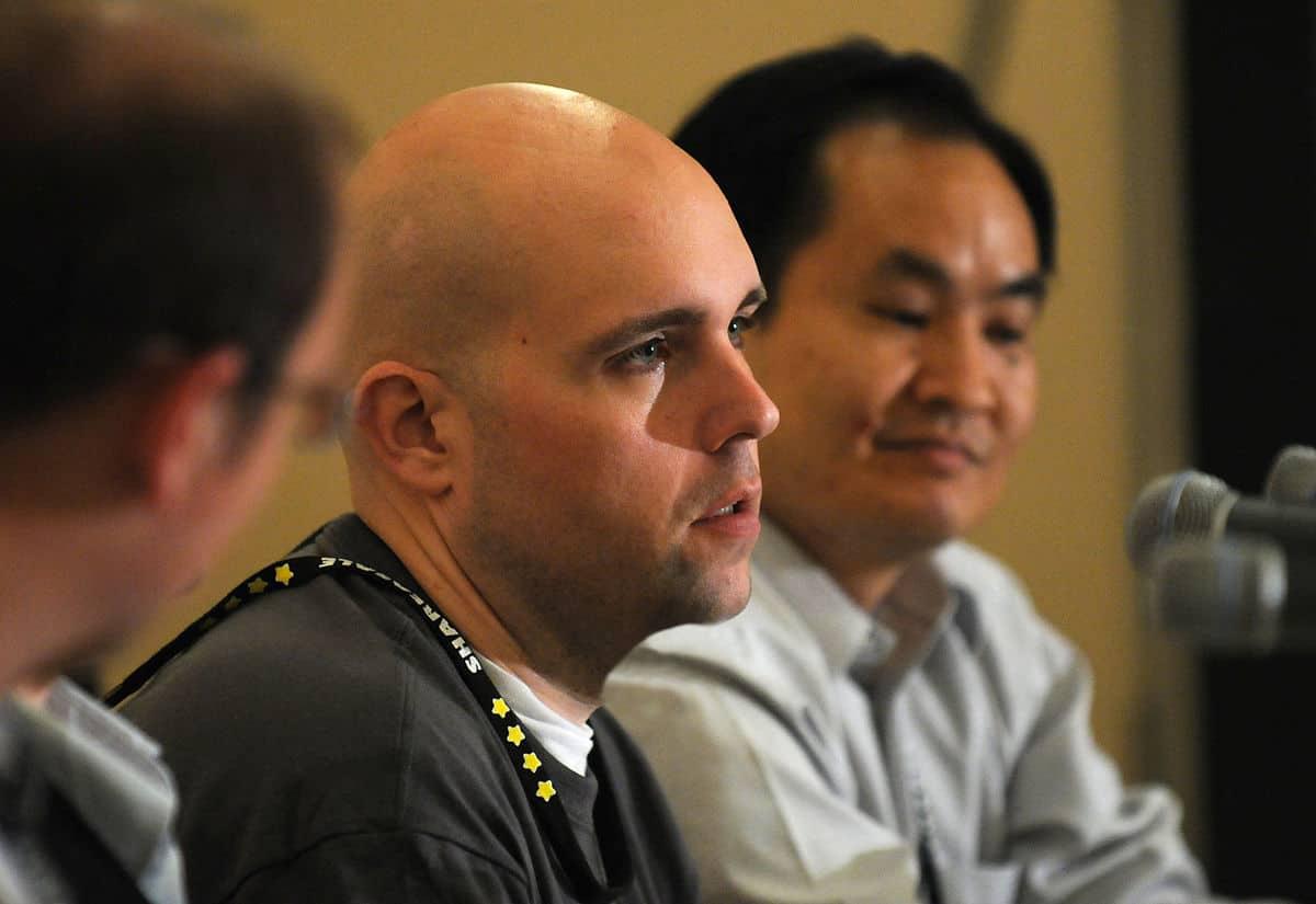 Jeremy Schoemaker at a conference