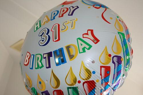 Поздравления с днем рождения на 31 год