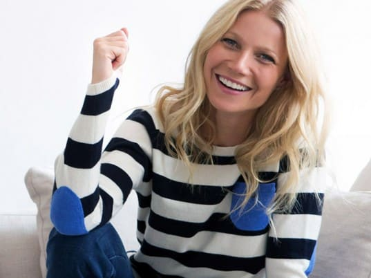 Gwyneth Paltrow in a sweater