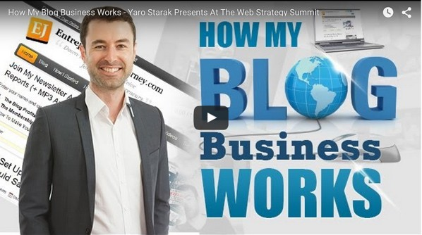 """How My Blog Business Works"" Web Strategy Summit Video Presentation"