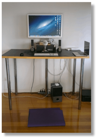 how i put together my stand up desk