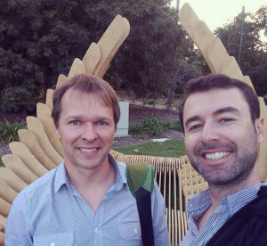 Gideon and me at QUT Garden's Point in Brisbane courtesy of my Instragram Channel - http://instagram.com/yarostarak/