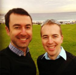 Yaro and Walter at Bondi Beach
