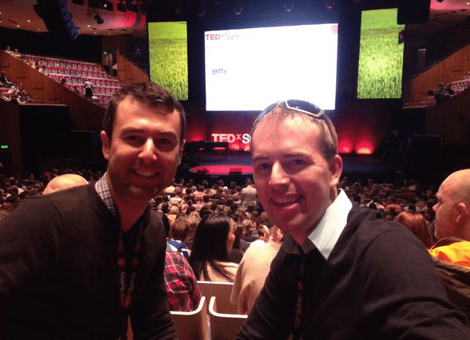 Yaro and Walter at TEDxSydney