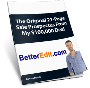 BetterEdit Sale Prospectus