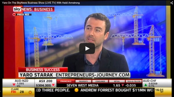My First Time On Live TV: Yaro On The SkyNews Business Channel Hosted By Heidi Armstrong