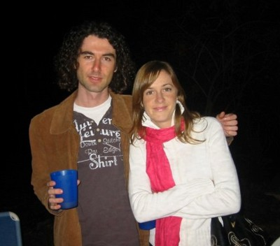 Angela and me back in 2008 - Vintage long hair days.
