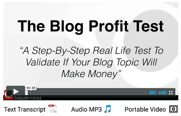 The Blog Profit Test