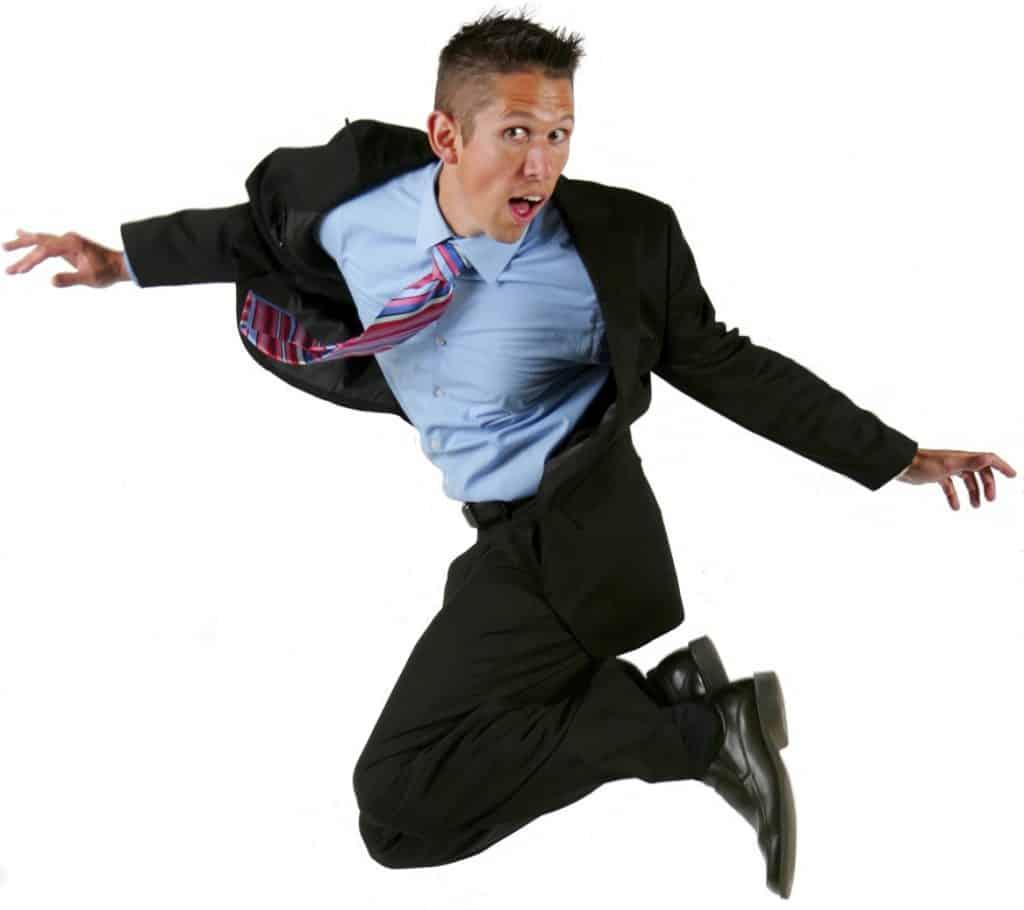 Hal Elrod jumping midair