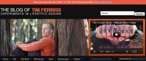 Tim Ferriss Header Bar