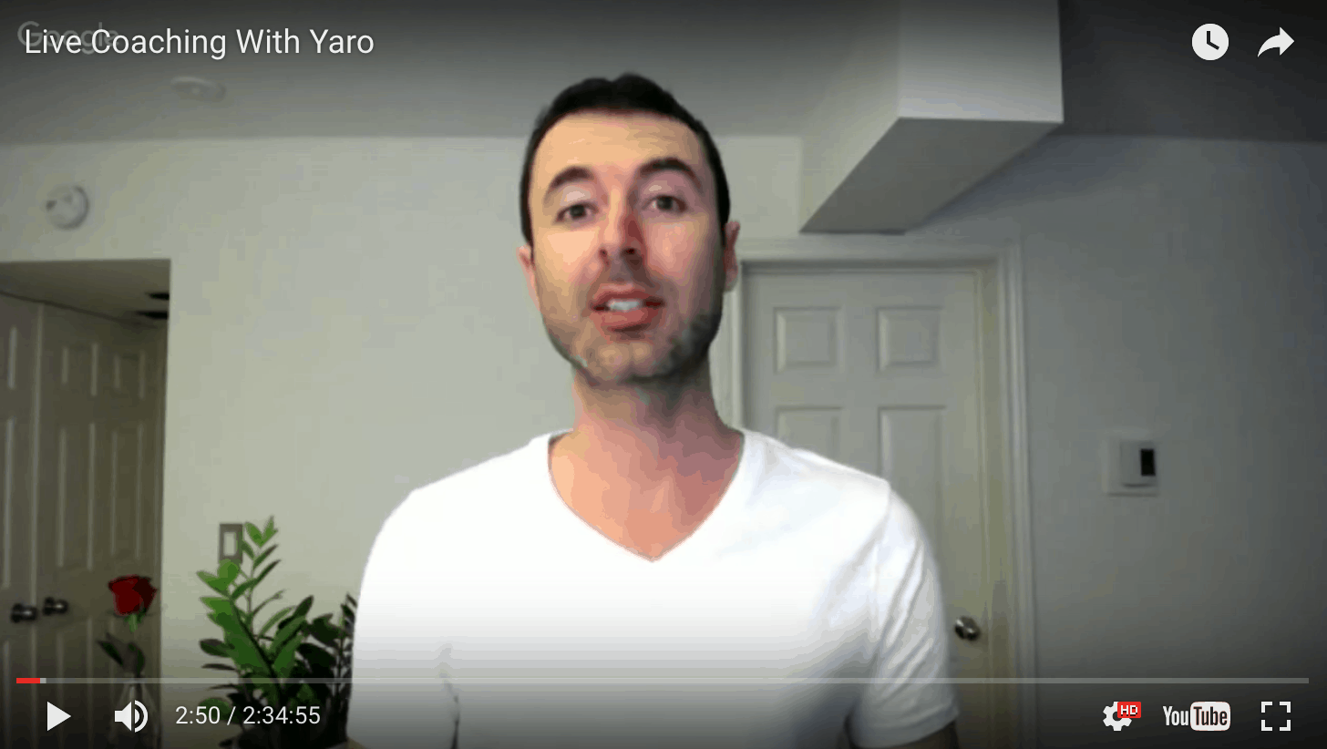 This Is What A Live Coaching Webinar With Yaro Is Like…