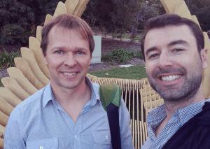 Gideon Shalwick with Yaro Starak