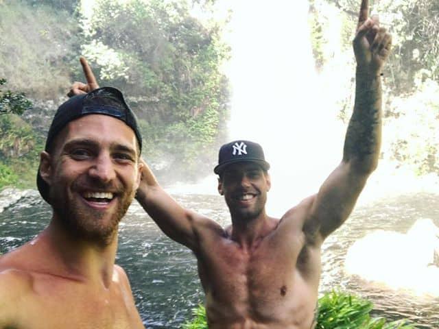 Dan and Brandon At A Waterfall