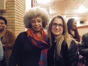Alice Seba with Angela Davis