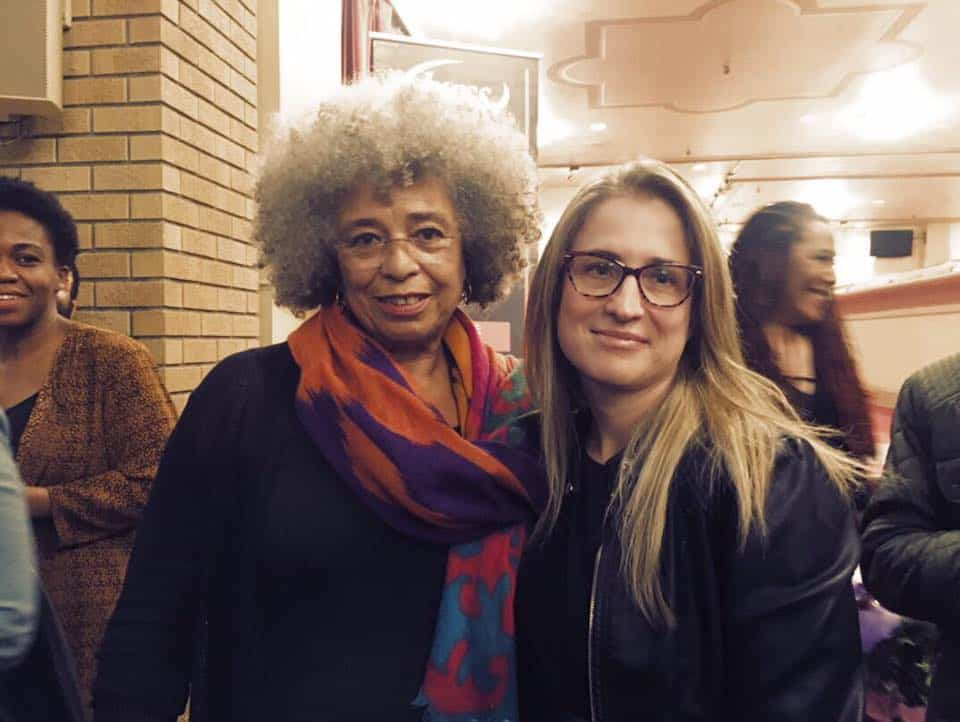 Alice Seba with Angela Davis