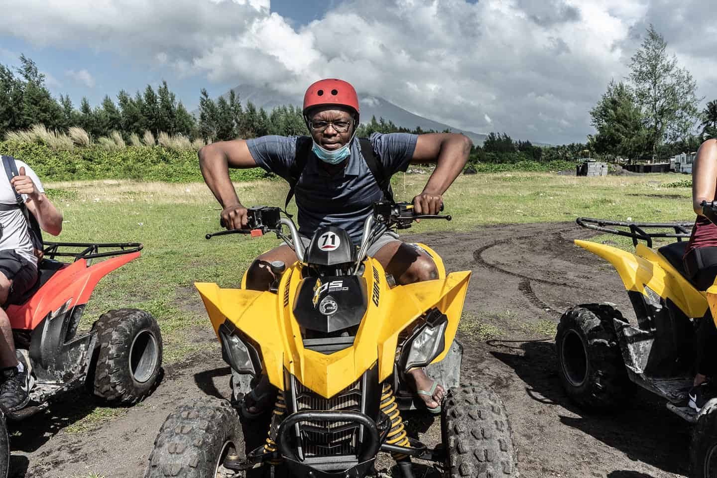 Kerwin McKenzie on a quad bike