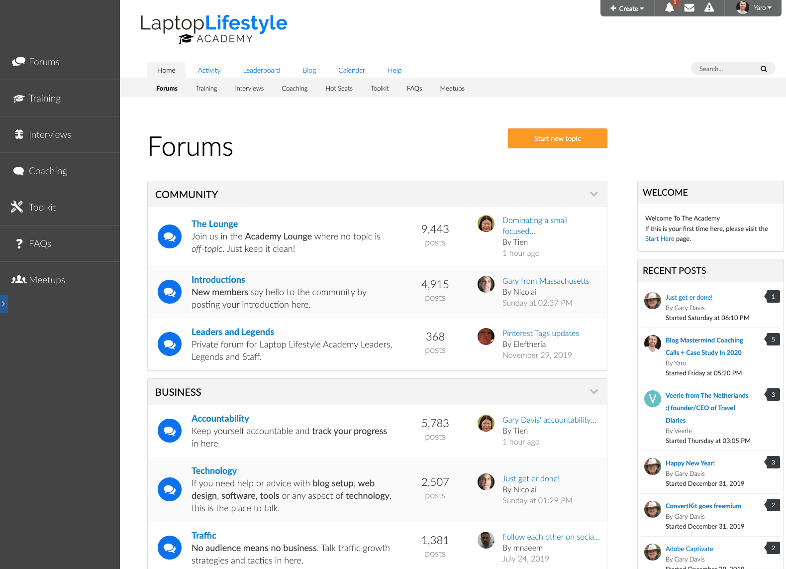 The Laptop Lifestyle Academy is the community I currently offer my members.