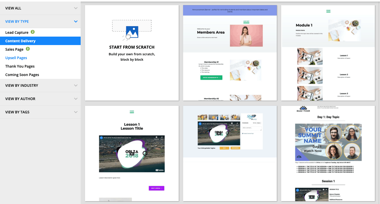 Ontraport Membership Site Templates